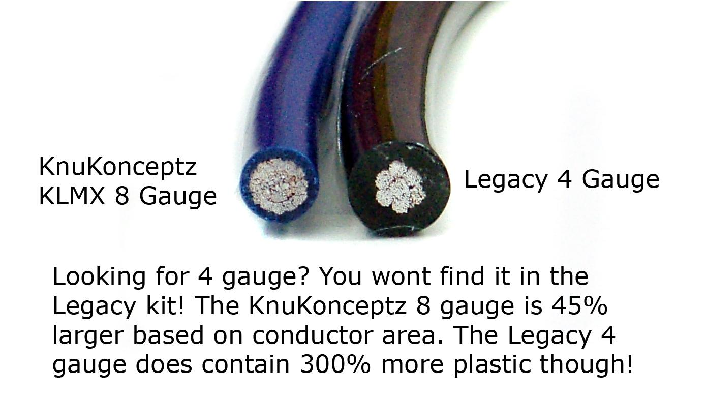 KnuKonceptz KCA TRUE 8 Gauge Amp Install Kit Larger then Legacy 4 ...
