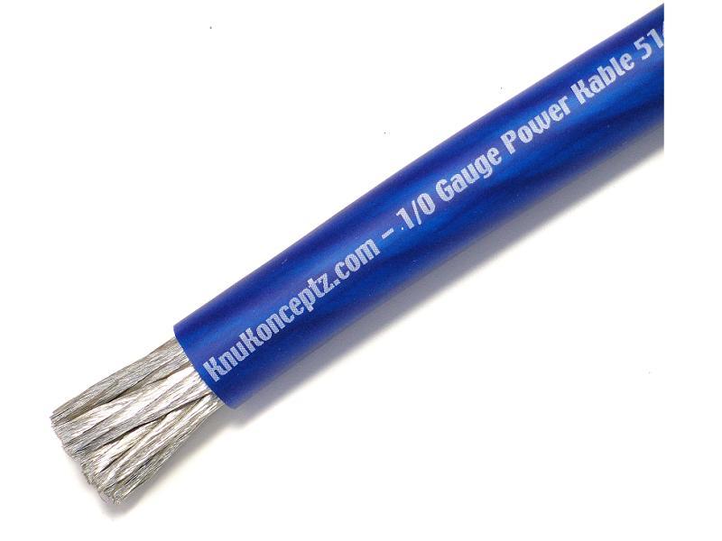 KnuKonceptz Kolossus Flex Power/Ground Wire 4 Gauge Blue 2058 ...